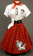 Betty Boop Poodle Skirt with Shirt