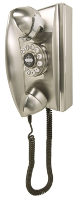 Crosley - Wall Phone - Brushed Chrome