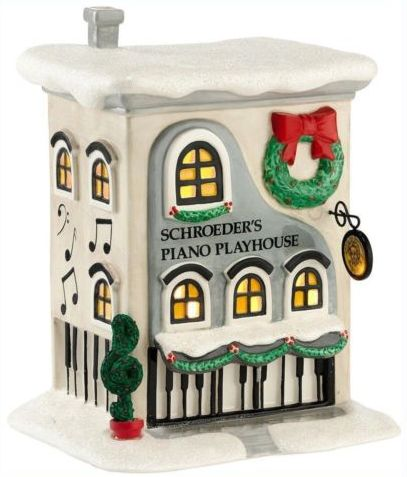 Schroeder's Piano Playhouse, Peanuts Snow Village, Department 56